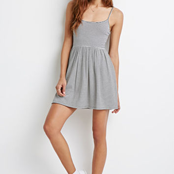 Striped A-Line Cami Dress