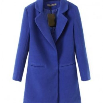 Pure Color Slim Fit Coat