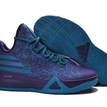 Popular Adidas Light EM UP 2 Bounce Lillard Hornets Vivid Purple Jade Brand sneaker