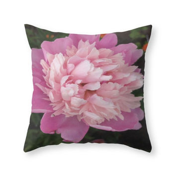 Society6 Flowers Throw Pillow