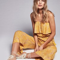 Free People Rays of Gold Jumpsuit