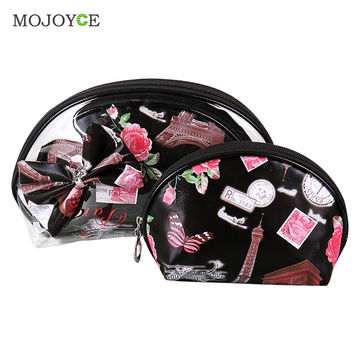 Three-piece Transparent Thicken PVC Waterproof Cosmetic Bag Package Make Up Bag Organizer Makeup Case Travel Cosmetic Bag SN9