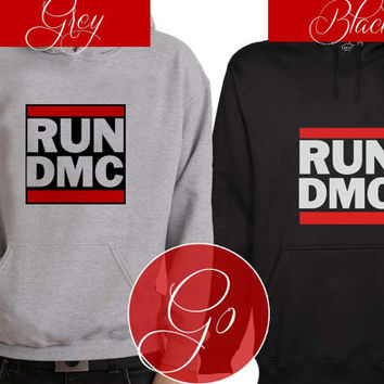 Run DMC Hoodie Sweatshirt Sweater Shirt black and white Unisex