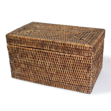 BAM007-AB Rectangular Storage Basket  with Lid