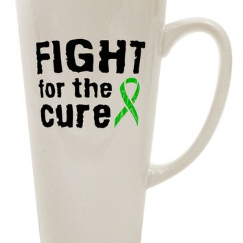 Fight for the Cure - Lime Green Ribbon Lyme Disease 16 Ounce Conical Latte Coffee Mug