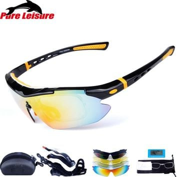 PureLeisure 1Set 5 Lens Sunglasses Fishing Men Polarized Fishing Lunette Solaire Clip Polarized Fishing Eyewear Sunglasses