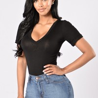 Favorite Tee Bodysuit - Black
