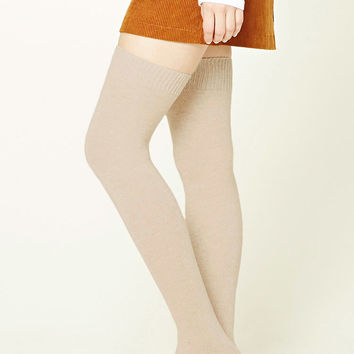 Wool-Blend Over-the-Knee Socks