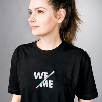 Holographic We Over Me Shirt