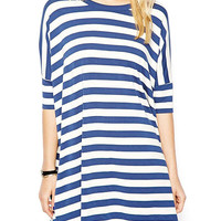 Blue Stripped Casual Dress