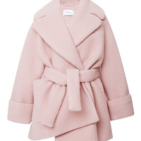 Pink Wool Manteau Court Coat