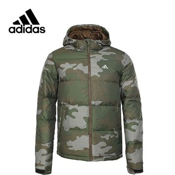Adidas New Arrival Authentic NUVIC CAMO Men's Windproof Jacket Hooded Sportswear BQ8612