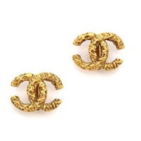 Vintage Chanel Florentine CC Earrings