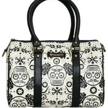 - SUGAR SKULL BLACK AND WHITE SATCHEL BAG LOUNGEFLY OFFICIAL WEBSITE