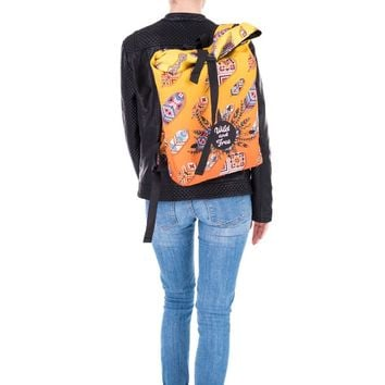 Wild and Free Dreamcatcher Tribal Yellow & Orange Courier Backpack