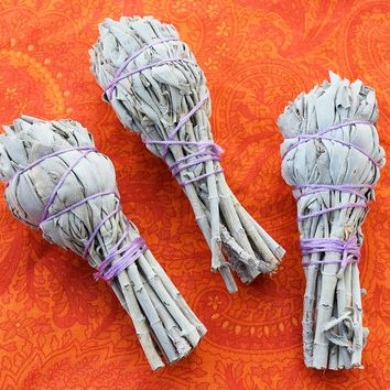 Smudge Sticks 3 pack of White Sage Sticks, Sage Smudge Wand, Smudging Sticks