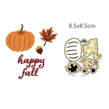 Leaves and pumpkins Metal Cutting Dies For Scrapbooking Embossing Decorative Crafts Supplies DIY Paper Cards Making New 2018
