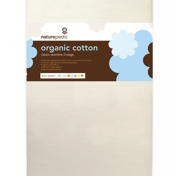 Naturepedic Crib Mattress - Organic Cotton Classic 150 Seamless 2-Stage