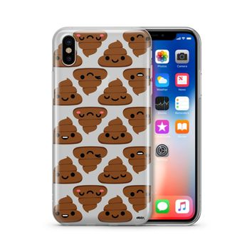 Happy Poop - Clear Phone Case Cover Phone