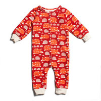 Winter Water Factory Red Foxes & Hedgehogs Jumpsuit - Organic French Terry