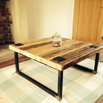 Industrial Mill Style Reclaimed Wood Coffee Table