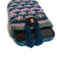 Phone Cozy KNITTING PATTERN, iPod Case, iPhone Sleeve, Instant Download PDF, Easy With Strap, Knit