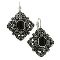 Marcasite Diamond Drop Earrings