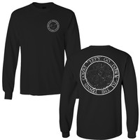 Tennis Court Black Long Sleeve Shirt
