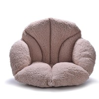 Fluffy Fur Seat Cushion Coffee Khaki Pink Plush Pillow Decorative Pillows Luxury Soft Warm Vintage Chair Cushions For Sofas