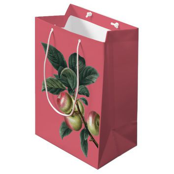 Branch of Red Apples Medium Gift Bag