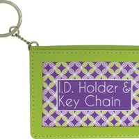 I.d Holder and Keychain Green w/ Purple Wellspring