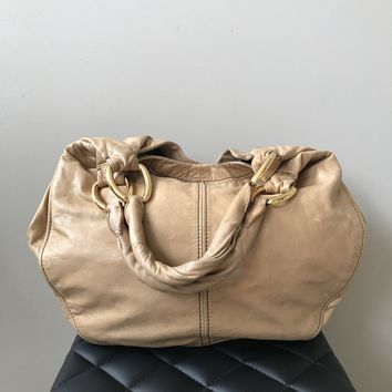 Miu Miu Light Tan Large Hobo Bag