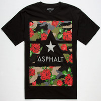 Asphalt Yacht Club Delta Force Camo Mens Reflective T-Shirt Black  In Sizes