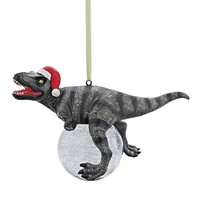SheilaShrubs.com: Blitzer, The T-Rex Holiday Ornament QS93320 by Design Toscano: Christmas Tree Ornaments
