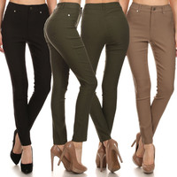 Career High Rise Waisted Stretch Slim Fit Stretch Skinny Pants