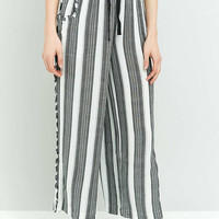 Staring At Stars Striped Frayed Wide Leg Trousers - Urban Outfitters