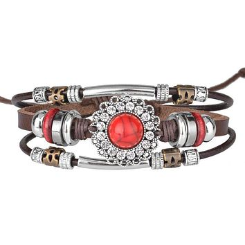 Multi-layered Boho Fire Safety Awareness Bracelet