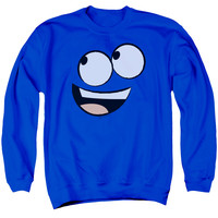 FOSTER'S/BLUE FACE - ADULT CREWNECK SWEATSHIRT - ROYAL BLUE -