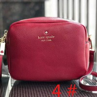 Kare spade Fashion new leather tassel women leisure personality shoulder bag Wine Red