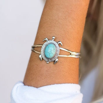 One with Nature Turquoise Cuff Bracelet