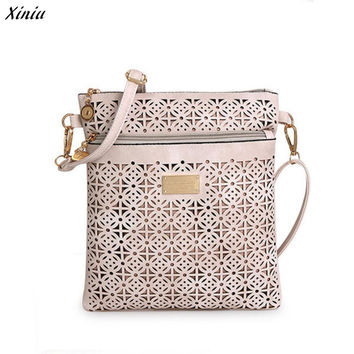 Xiniu Women Messenger Bags Hollow Out Floral Flap Bag Women Bolsos Mujer PU Leather Bag bolsa feminina #0