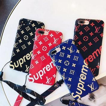 One-nice™ LV Louis Vuitton Print iPhone Phone Cover Case For iphone 6 6s 6plus 6s-plus 7 7plus