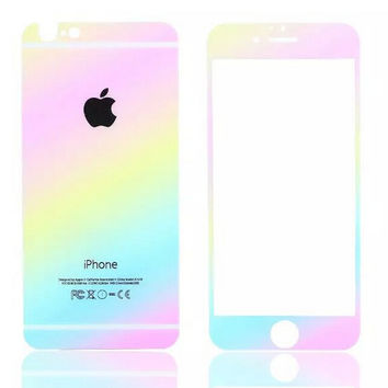 Gradient iPhone 6s 6plus Toughened Glass Screen Protector Gift