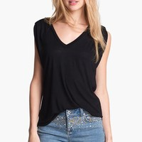 Two by Vince Camuto Shirred Shoulder Top $49.0