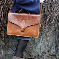 Leather messenger steampunk messenger school laptop by tatoke