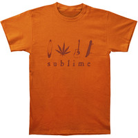 Sublime Men's  T-shirt Orange Rockabilia