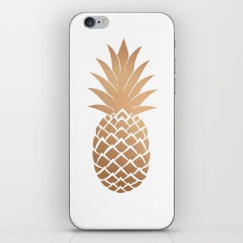 Gold Pineapple iPhone & iPod Skin by Neon Monsters