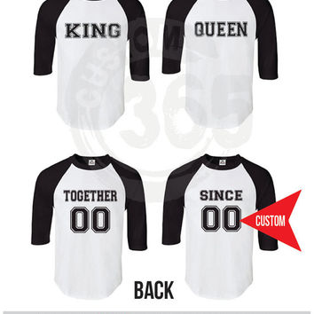 King and Queen(Straight Fit Raglan)