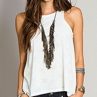 O'Neill Janelle Jacquard Tank - White