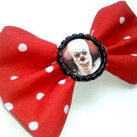 Pennywise/ It the Clown Hair Bow, Accessory, Horror, Geekery